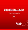christmas sale simple poster vector image