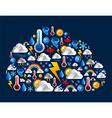 cloud shape weather set vector image
