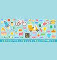 cute sticker template vector image