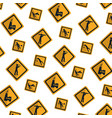 diamond caution emblem to industry maintenance vector image vector image