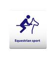 equestrian sport symbol stickman solid icon vector image vector image
