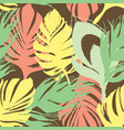 exotic summer leaf seamless pattern vector image vector image