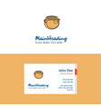 flat pot logo and visiting card template busienss vector image vector image