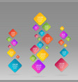 flat rhombus colorful info-graphic vector image