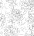 floral sketches wallpaper vector image vector image