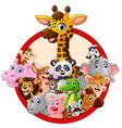 happy animal cartoon vector image