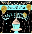 Happy Birthday greeting card Felicitation vector image vector image