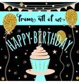 Happy Birthday greeting card Felicitation vector image