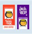 happy halloween invitation design with pot vector image