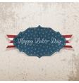 Happy Labor Day Emblem on grunge Background vector image vector image