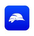 hardhat icon digital blue vector image vector image