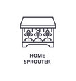 home sprouter line icon outline sign linear vector image vector image