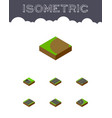 isometric road set of driveway asphalt without vector image vector image