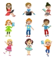 Kids And Modern Technology vector image vector image