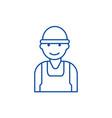 laborworkerbuilder line icon concept labor vector image vector image