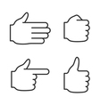 Line hand icons set vector image
