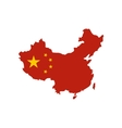 map china with national flag icon flat style vector image