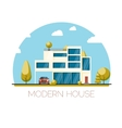 Modern house Flat design vector image vector image