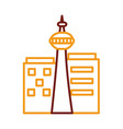 national tower canadian monument line style vector image vector image
