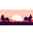 nature at sunset vector image vector image