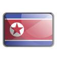 north korea flag on white background vector image