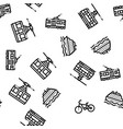 public transport seamless pattern vector image vector image
