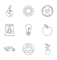 Purity of nature icons set outline style vector image