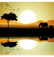 Safari of elephant silhouette vector | Price: 1 Credit (USD $1)