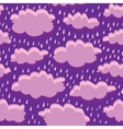 seamless pattern of clouds and rain vector image vector image