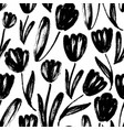 seamless pattern with tulips texture vector image