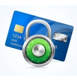 Security Card Concept padlock vector image vector image