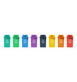 separation concept set color recycle bin icons vector image vector image