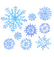 set of snowflakes new year vector image vector image