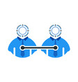 simple business networking icon in unique design vector image vector image