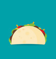 simple taco in flat style vector image vector image