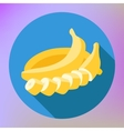 Sliced banana flat long shadow vector image