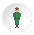 Soldiers in uniform icon cartoon style vector image vector image