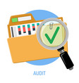 success audit concept vector image vector image