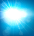 Summer view blurry blue sky background vector image vector image