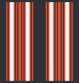 vertical black and orange stripes print vector image vector image