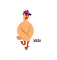 virgo zodiac sign funny chick character vector image vector image