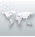 World map connecting lines and dots on gray color vector image vector image