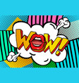 wow word bubble vector image