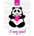 love you panda vector image