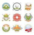 Golf club logo set vector image