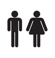 man and woman black silhouettes vector image