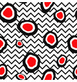 abstact seamless pattern dot and zig-zag line vector image vector image