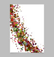 abstract blank curved confetti poster background vector image