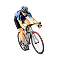 abstract cyclist on a race track from splash vector image