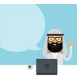 arabian muslim businessman flat vector image